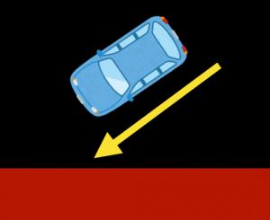 斜めから入る車