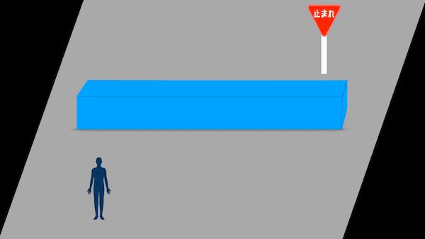 光の屈折による棒の見え方