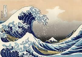 波を描いた富嶽三十六景 神奈川沖浪裏