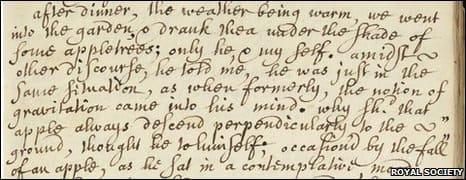 ニュートンのリンゴの話が本当である証拠