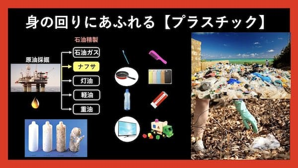 身の回りにあふれるプラスチック