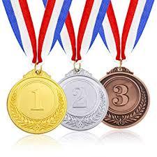 金属光沢のあるメダル