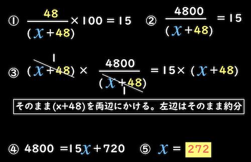 分母が二項以上の方程式を解く