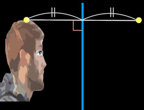 頭頂部が鏡に見える場所