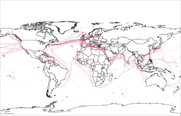 世界のインターネットを支える海底ケーブル