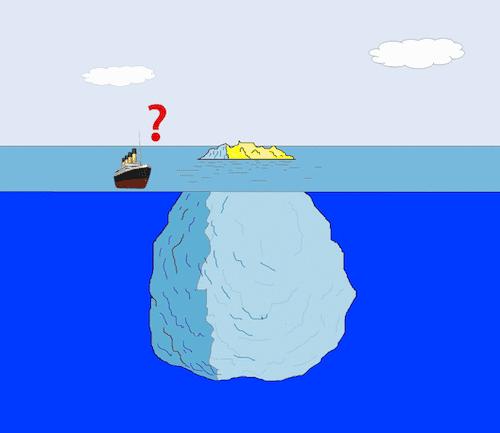 氷山とタイタニック号