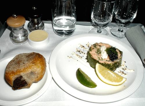 コンコルドの機内食