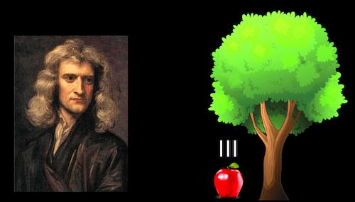 ニュートンとリンゴ