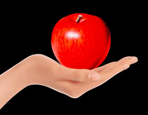 手のひらのリンゴ
