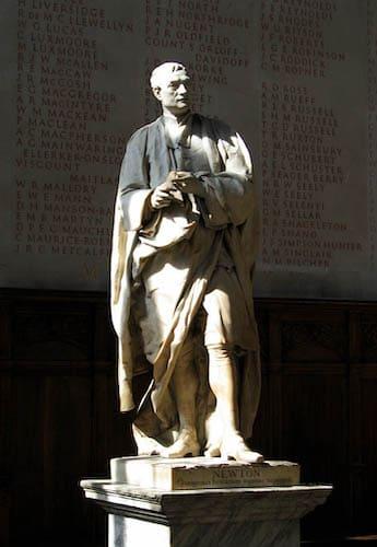 ニュートンの銅像