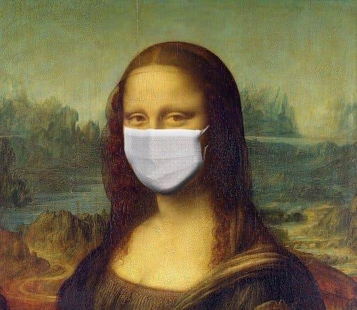 マスクをするモナリザ