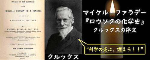 ロウソクの化学史を編集したウィリアム・クルックス