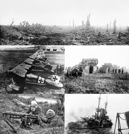 化学兵器が利用された第一次世界大戦