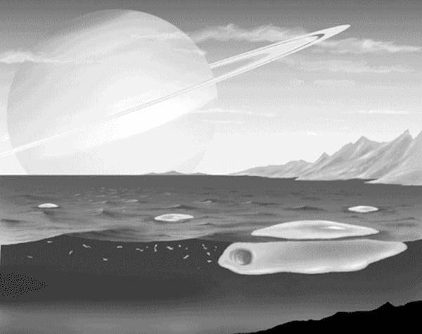 タイタンに住む生命体想像図