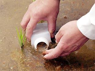 水中の微生物を採集する